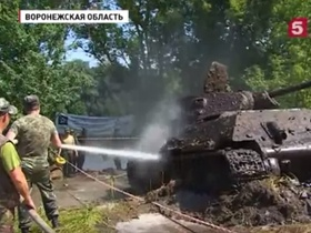 VIDEO: the searchers found a well-preserved T-34-76
